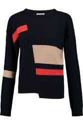 Jil Sander Asymmetric Cashmere Sweater Midnight Blue