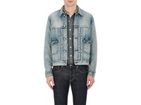 Rrl Men's Denim Shirt Jacket Light Blue