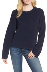 Willow And Clay 'S Cutout Ribbed Sweater Navy
