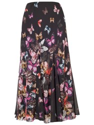 Chesca Butterfly Border Skirt Black Multi