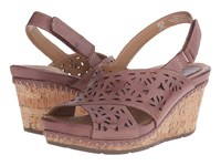 Earth Aries Brown Leather Women's Wedge Shoes