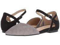 Chinese Laundry Cl By Helena Grey Black Snake Suede Dress Flat Shoes Gray