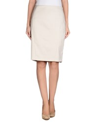 Elie Tahari Skirts Knee Length Skirts Women Beige