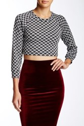 American Apparel Raglan Crop Sweater Multi
