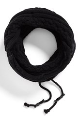 Men's Bickley Mitchell Cable Knit Drawstring Snood Black