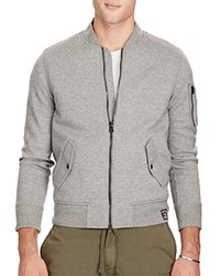 Polo Ralph Lauren Double Knit Bomber Jacket Gray Heather