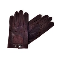 Huckle And Harper Leather Driving Gloves Brown