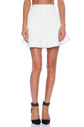 Line And Dot Leo Flare Skirt White