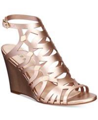 Bar Iii Lania Wedge Sandals Only At Macy's Women's Shoes Rose Gold