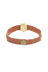 Carolina Bucci 18 Carat Gold And Silk Woven Bracelet Orange