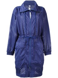 Adidas By Stella Mccartney Training Parka Coat Pink Purple