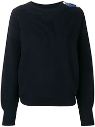 Moncler Navy Knit Sweater Blue