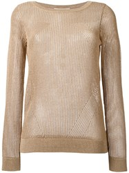 Michael Kors Ribbed Jumper Nude Neutrals