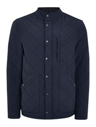Criminal Spike Quilted Jacket Navy