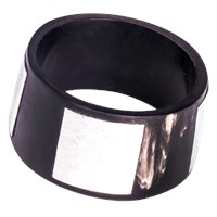 Alexander Betty Hammered Metal And Horn Bangle Dark Horn