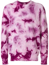 Stussy Tie Dye Ribbed Jumper Pink And Purple