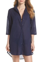 Echo Solid Cover Up Dress Navy