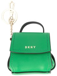 Dkny Mini Flap Shoulder Bag Charm Green