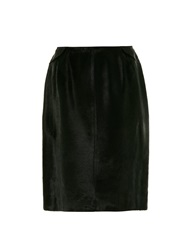 Azzedine Alaia Pony Hair Pencil Skirt