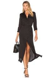 L'academie The Long Sleeve Shirt Dress Black