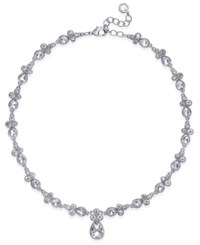 Charter Club Crystal Pendant Necklace Only At Macy's Silver