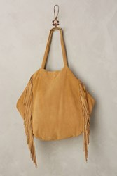 Anthropologie Sybil Fringe Tote Brown