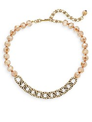 Heidi Daus Beaded Crystal Chain Link Necklace Gold