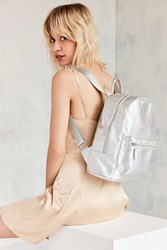 Urban Outfitters Iridescent Backpack Silver