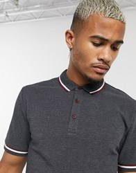 Only And Sons Tipped Polo In Black