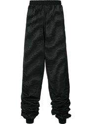 Y Project High Waist Track Pants Men Polyester Acetate M Black