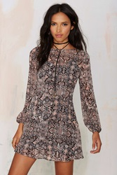 Nasty Gal After Party Vintage Heather Floral Dress