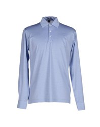 Fedeli Topwear Polo Shirts Men Sky Blue