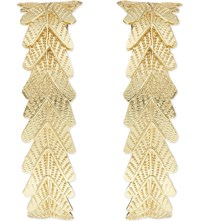 Maje Naxos Leaf Stud Earrings Gold