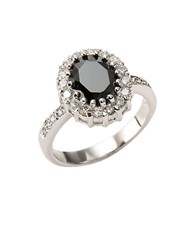 Lord And Taylor Sterling Silver Cubic Zirconia Ring