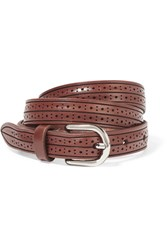 Isabel Marant Kaylee Perforated Leather Belt Brown