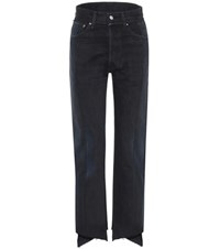 Vetements High Waisted Deconstructed Jeans Black