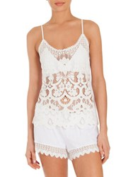 In Bloom Las Flores Two Piece Camisole And Shorts White