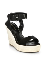 Sergio Rossi Eleanor Suede And Leather Espadrille Wedge Sandals Beige