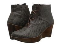 Naot Footwear Nadine Brown Croc Leather French Roast Leather Women's Boots
