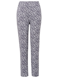 Phase Eight Gill Jersey Print Trousers Charcoal Ivory