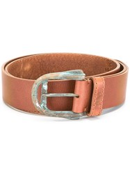Maison Martin Margiela Distressed Effect Belt Brown