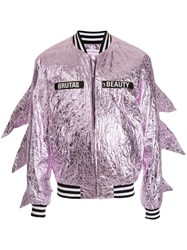 Walter Van Beirendonck Vintage Brutal Beauty Bomber Jacket Pink And Purple