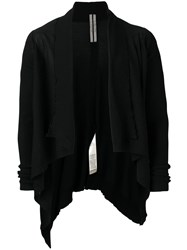 Rick Owens Asymmetric Cropped Cardigan Black