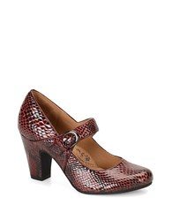 Sofft Miranda Embossed Leather Mary Jane Pumps