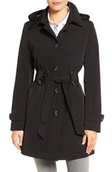 Gallery Women's Silk Look Belted Trench Coat