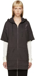 R 13 Charcoal Double T Hoodie