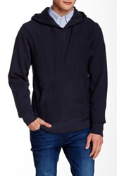 Relwen Cross Grain Hood Sweater Blue