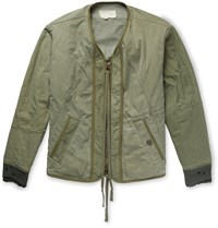 Greg Lauren Cotton Blend Bomber Jacket Green