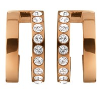 Dyrberg Kern Swarovski Crystal Hoop Earrings Rose Gold