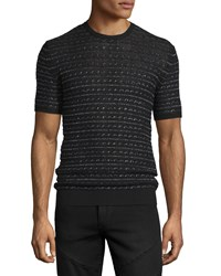 Cnc Costume National Short Sleeve Knit Sweater Black
